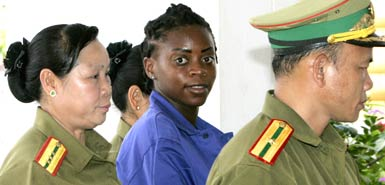 Samantha in custody at her trial this week